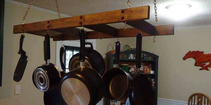 How to Build a DIY Hanging Pot Rack?