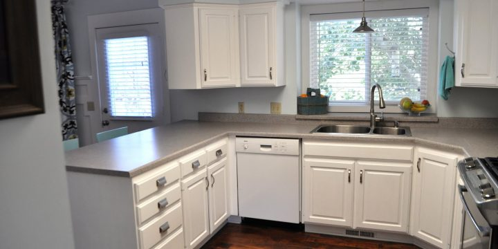 How to Paint Kitchen Cabinets with a Sprayed-On Finish