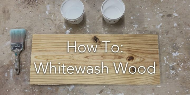 How to whitewash wood?